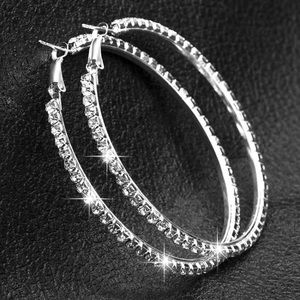 Jewelry - 90mm bling rhinestone oversized hoops earring